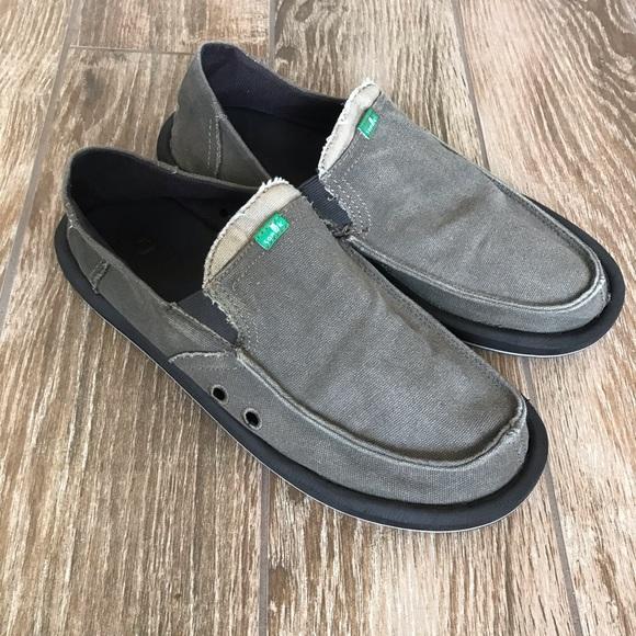 Sanuk Shoes | Mens Casual Canvas Slip